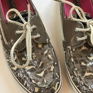 Sperry Animal Print Sparkle Sequins Top-Siders